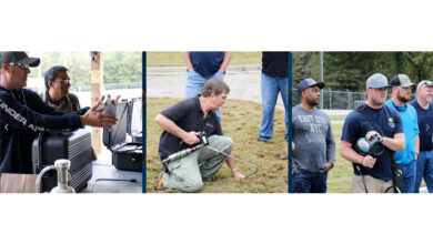 Collage of leak detection images