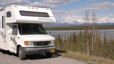 Image of an RV in Alaska