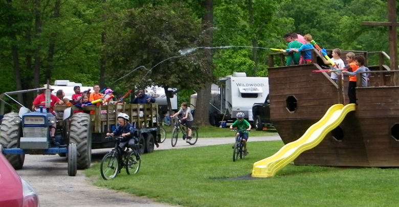 Picture of the water wagon at Yogi at Shangri-La campground