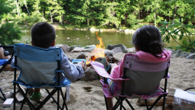 Image of young guests at Saco River Camping Area