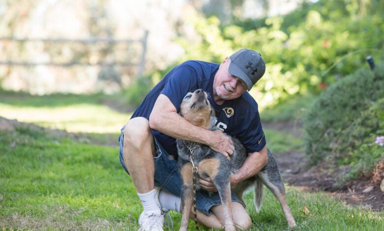 Image of professional dog trainer Dan Ross with one of his pets.