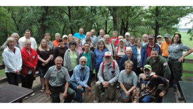 Image of the service team at the U.S. Army Corps of Engineers project at Lake Red Rock